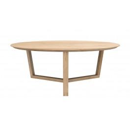Table basse ronde tripod - Chêne