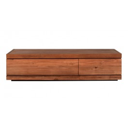 TABLE BASSE - 2 Tiroirs - L.130 - Teck Burger