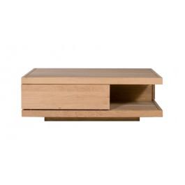 TABLE BASSE - 2 TIROIRS - Chêne Flat