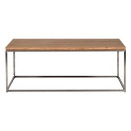 TABLE BASSE - Cadre Inox - Chêne Thin