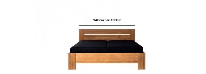 De 140cm par 190cm